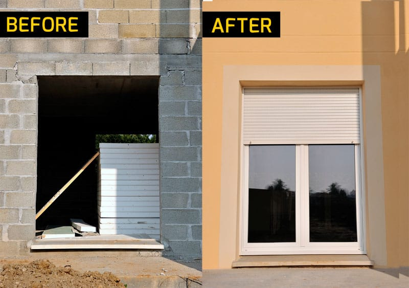 Door installation before and after Madison, WI