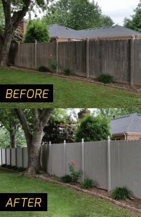 Gold Coast Fence Painting before and after pictures